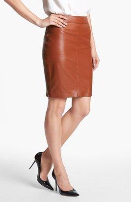 Trina Turk 'Sydney' Leather Skirt