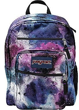 JanSport Big Student Backpack in Swedish Blue Spray Can Print