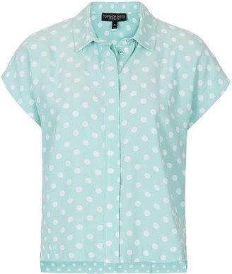 Topshop Petite Spot Shirt