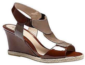 Amalfi by Rangoni T-Strap Espadrille Wedges