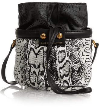 Marc by Marc Jacobs Lexi Makes Friends Jen snake-print leather bucket bag