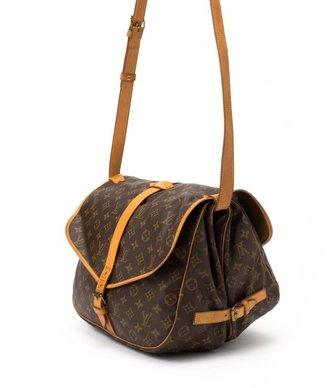 Louis Vuitton Pre-Owned: brown monogram canvas 'Saumur 35' bag