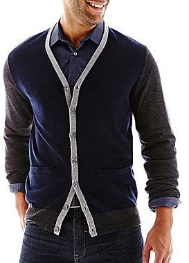 Claiborne Merino Wool Cardigan Sweater