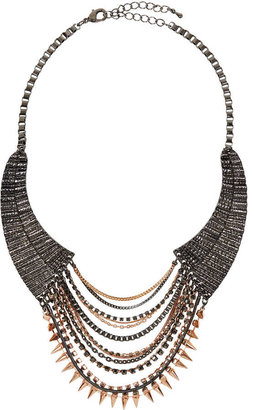 Topshop **Spike Chain Collar By CJG