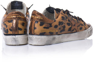 Golden Goose Deluxe Brand May leopard-print trainers