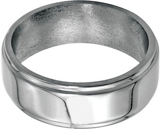 Steel By Design Steel by Design 8mm Ridged Edge Polished Ring