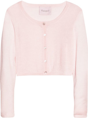 Crumpet Cropped fine-knit cashmere cardigan
