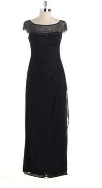 Xscape Evenings Beaded Cap Sleeved Gown