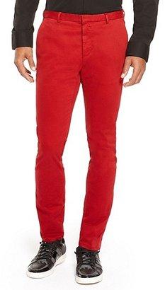 HUGO BOSS Helgo-D Extra Slim Fit, Stretch Cotton Pants - Medium Red