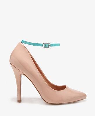 Forever 21 Neon Ankle Strap Pumps