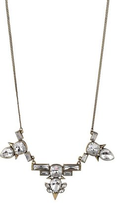 Lori's Shoes Brushed Metal and Stone Statement Necklace