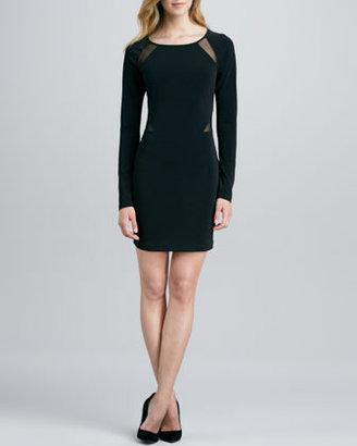 Elizabeth and James Katrina Long-Sleeve Dress with Sheer Insets