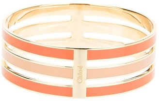 Chloé bi-colour stacked bangle