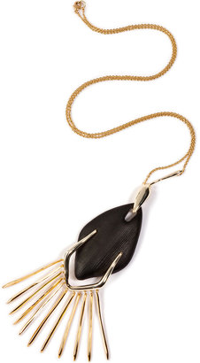 Alexis Bittar Durban Long Fringed Necklace in Black