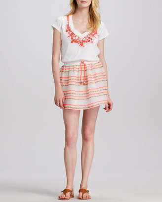 Milly Paige Drawstring Skirt