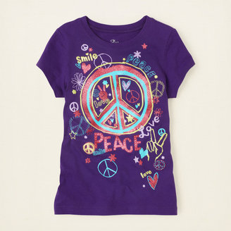Children's Place Sketch peace graphic tee