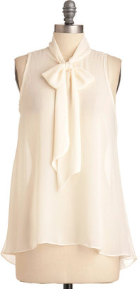 Sheer Style Top in White
