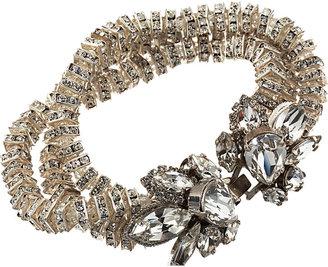 Erickson Beamon Crystal Triple-Strand Square Rondelle Bracelet