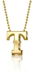 Alex Woo Texas Rangers Necklace - Yellow Gold