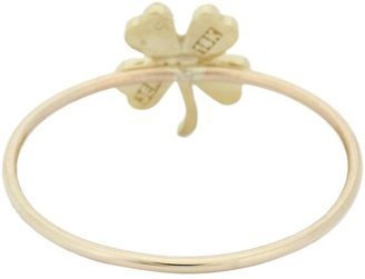 Jennifer Meyer Women's Four-Leaf Clover Ring-Colorless