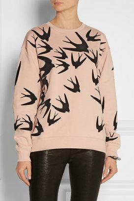 McQ by Alexander McQueen Flocked cotton sweatshirt