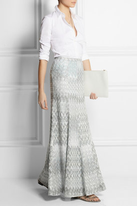 Missoni Metallic crochet-knit maxi skirt
