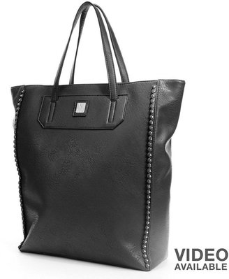 Kooba V-couture by orly scalloped & studded tote
