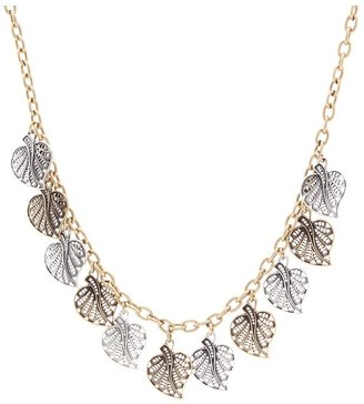 Lucky Brand Bombay Fillagree Leaf Collar Necklace (Two-Tone) - Jewelry