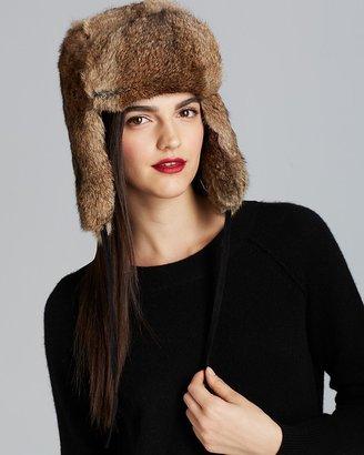 Surell Rabbit Fur Aviator Hat