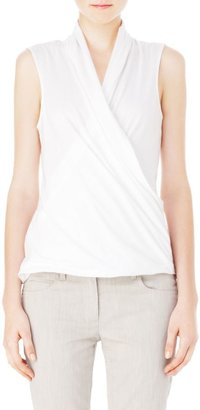 Theory Derona Stretch Cotton Cross Over Top