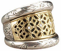 Konstantino Lattice Diamond Ring
