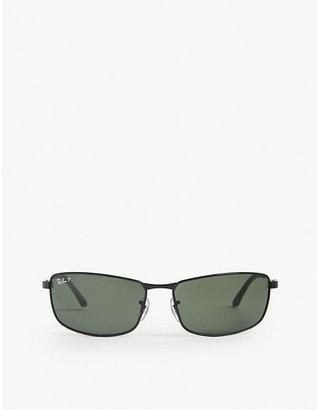 Ray-Ban Women's Black Polarised D-Frame Sunglasses Rb3498 64