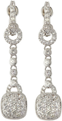 Judith Ripka Pave Cushion-Drop Earrings