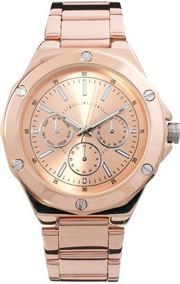 Asos Screw Detail Boyfriend Watch - Copper