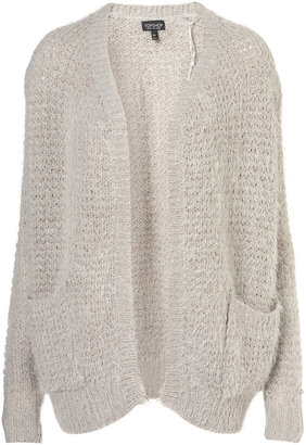 Topshop Knitted Fluffy Stitch Cardigan