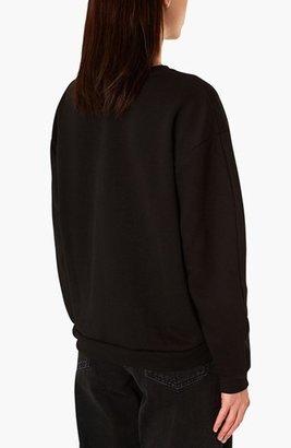 Topshop Boutique Lotus Embroidered Sweatshirt