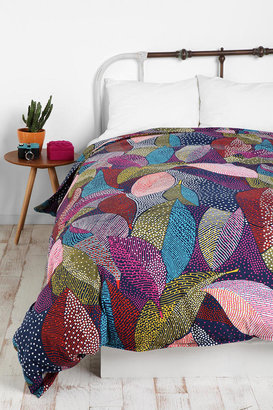 Urban Outfitters Dot Leaves Duvet Cover