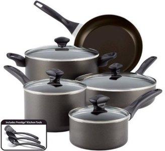 Farberware 12-pc. Nonstick Dishwasher Safe Nonstick Cookware Set, Charcoal