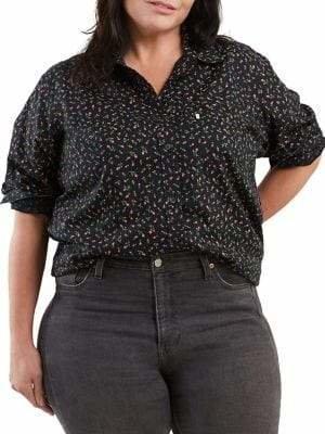 Levi's Plus Printed Long-Sleeve Button-Down Shirt