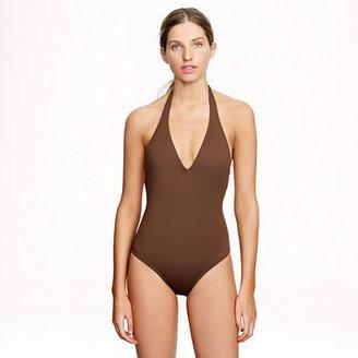 J.Crew Italian matte deep V-neck one-piece swimsuit