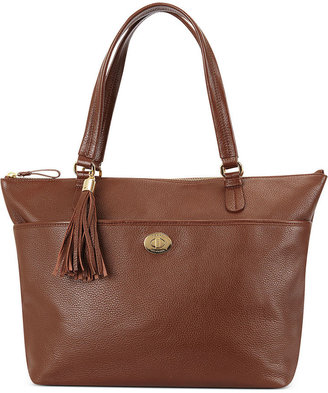 Tommy Hilfiger Handbag, Pebble Leather Turnlock Tassel Tote