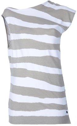 Balenciaga asymmetric shoulder detail top