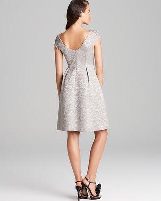 Kay Unger Embellished Cap Sleeve Dress