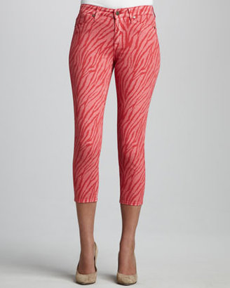 CJ by Cookie Johnson Believe Zebra-Print Cropped Leggings