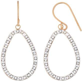 Diamond Fascination 14k Gold Diamond Accent Teardrop Earrings