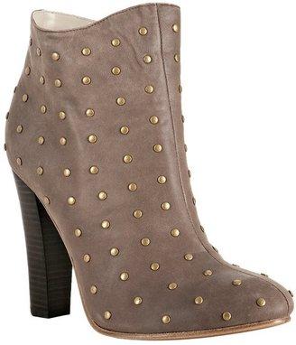 Candela light chocolate studded leather 'Cloti' booties
