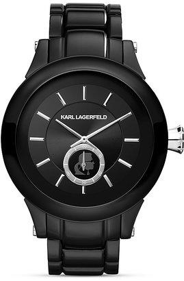 Karl Lagerfeld Chain Chronograph Watch, 44.6mm