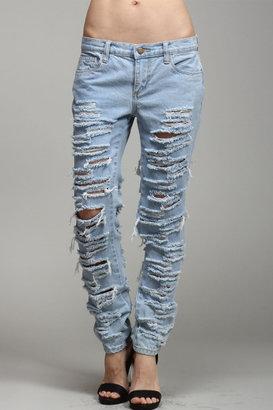 LITZ Destroyed Skinny Jean