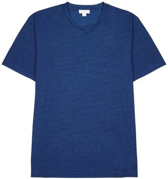 Sunspel Blue Melange Cotton T-shirt