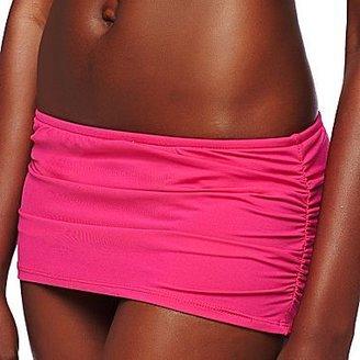 JCPenney Bisou Bisou® Shirred Halterkini, Hipsters or Swim Skirt